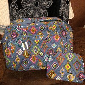 Vera Bradley Weekender Travel Bag & Cosmetic NWT